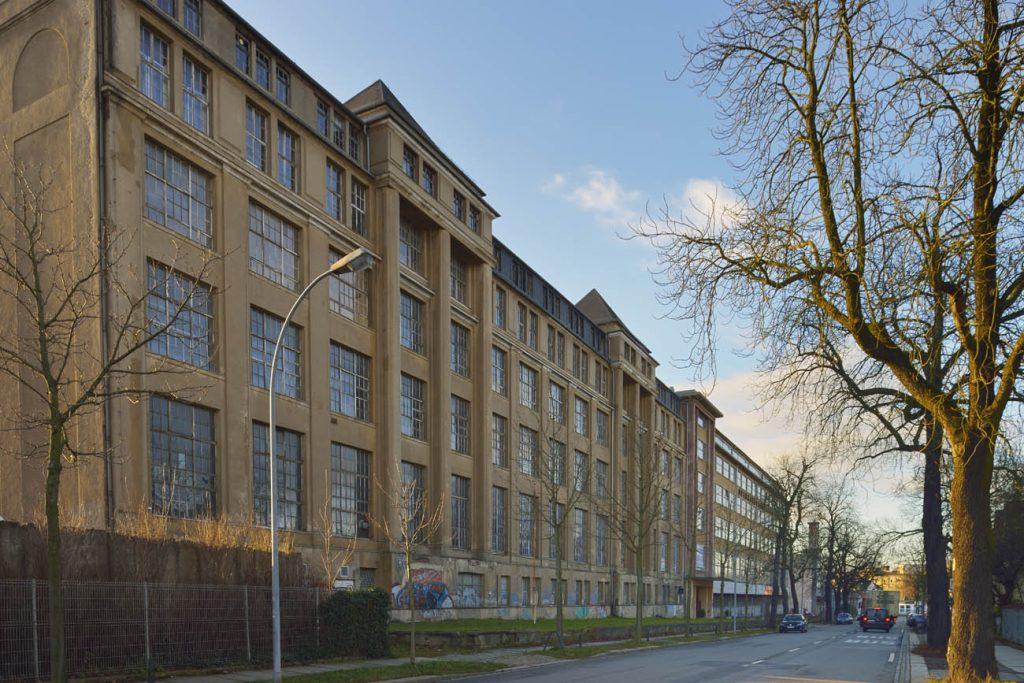 Fabrikanlage von Oscar Schimmel & Co., VEB Spinnereimaschinenbau Chemnitz, vormals R. Hartmann W2