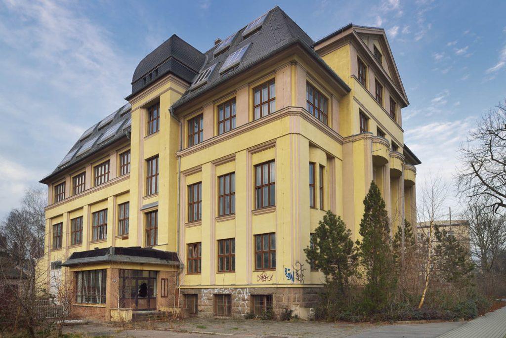 Verwaltungsgebäude des VEB Kombinat Textima Karl-Marx-Stadt